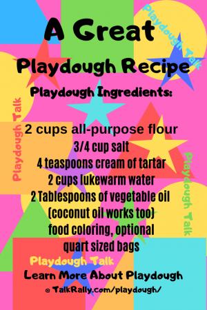 Playdough Or Play-Doh Recipe