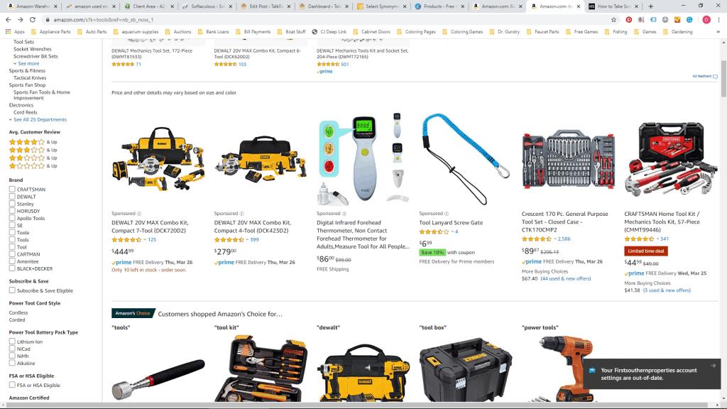 Amazon Page Screenshot